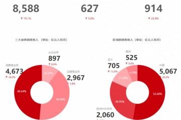 华为2019年营收8588亿同比增19%净利润627亿元